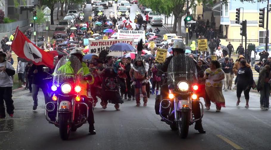 Protesters March to Remember Alejandro Nieto