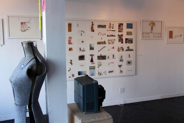 The gallery features West's art.