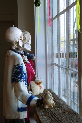 A display inside the store. West has personally collected the vintage garments she sells.