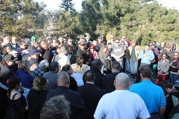 Friends gathered in Bernal Park to honor Nieto and to demand answers.