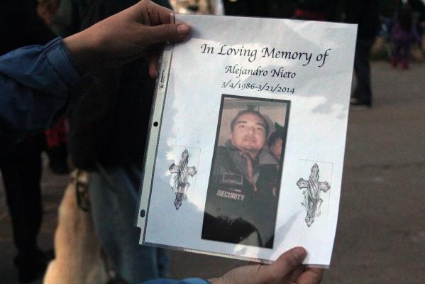 Alejandro Nieto died at the scene on March 21, 2014.