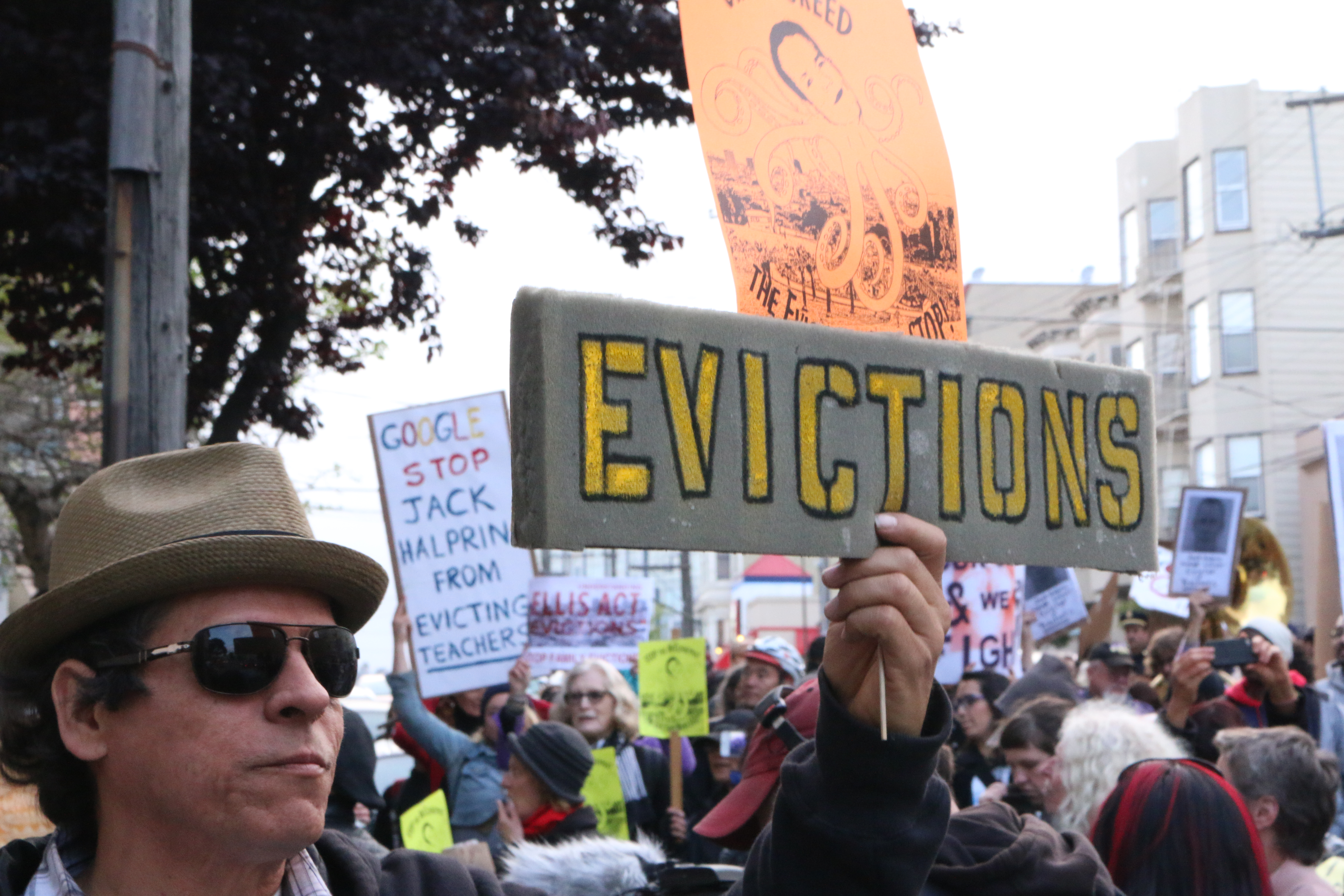 The Eviction March: The People in the Crowd