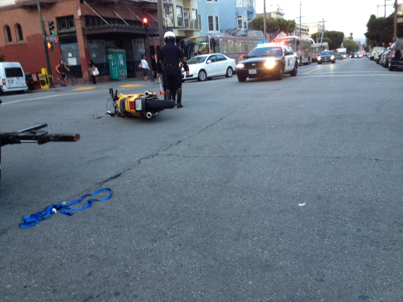 The scene at 16th and Guerrero streets. Photo by Lydia Chavez