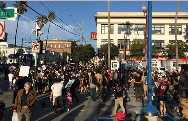 May Day Protest Marches Down Mission to 16th