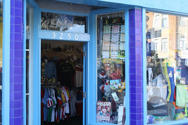La Argentina is easily recognizable by its brightly colored storefront. Photo by Laura Wenus