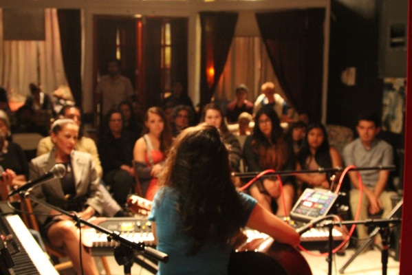 The audience at the Red Poppy Art House. Photo by Jasmine Koerber