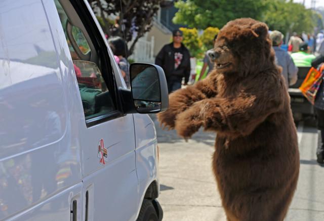 Bearly fun. Photo by George Lipp