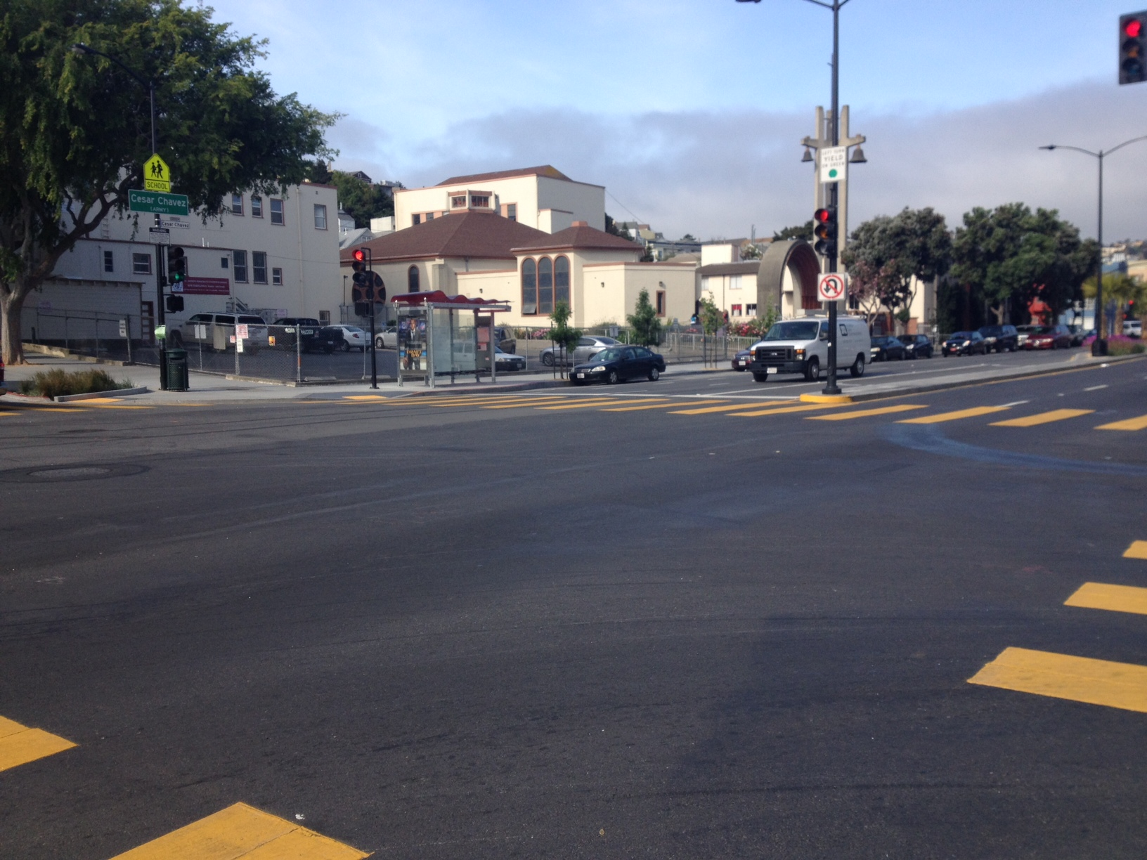 The intersection where the accident took place. Photo by Lydia Chávez