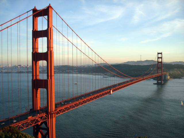 The Golden Gate Bridge, Photo from Wikipedia.