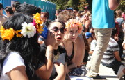 Karina Ventura, Liz Rodriguez, Vanessa Ramos and Raymann Bermudez attended Saturday's Dyke March in Dolores Park. Photo by Leslie Nguyen-Okwu