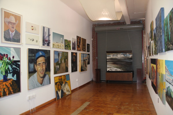 A side gallery holds more pieces. Photo by Joe Rivano Barros.