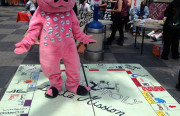 """Mission Monopoly,"" on display at the Plaza 16 Festival."