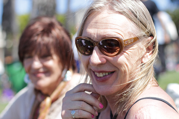 "For Stephanie Wiseman, who recently moved to Berkeley from Colorado, the march demonstrated how much has changed in recent years. ""I feel really fortunate living 24/7 as a woman,"" she said. ""The world's really changed. I drove fives times between Colorado and San Francisco and I never got one dirty look. There's a lot of..."