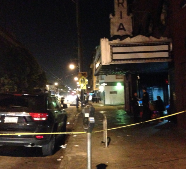 Police closed off 16th Street, from Capp street to South Van Ness Avenue, on Monday to investigate a fatal stabbing.