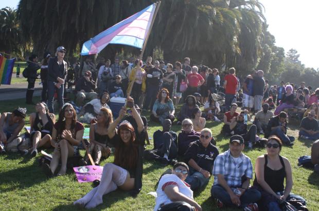 A scene from Trans March 2011. Photo by Octavio Lopez Raygoza.