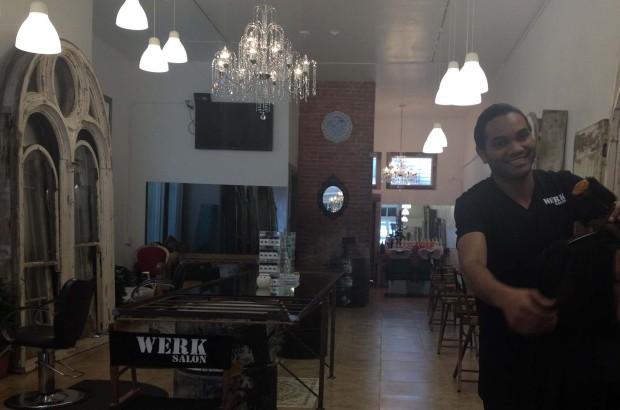 Dimitri Cornet in his new salon Werk. Photo by Lydia Chávez
