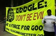 Sign outside of Google I/O protest. Photo by Leslie Nguyen Okwu.