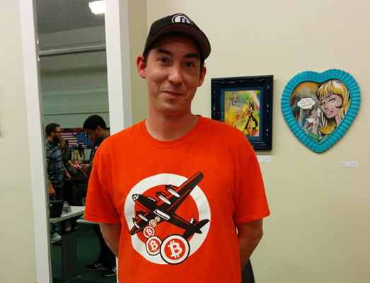 Drew Phillips is the campaign co-pilot of Bitcoin not Bombs, which helps charities accept and work with Bitcoin donations. Photo by Laura Wenus