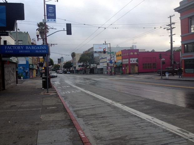Mission at 19th at 6:45 a.m. The shooting occurred just south of 19th Street on Mission Street, according to one witness.