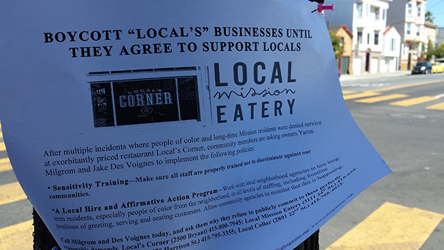 Boycott Called Against Local's Eateries and Stores