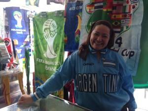 Michelle de Barrionuevo, co-owner of Flag Mama and Futbol Papa.