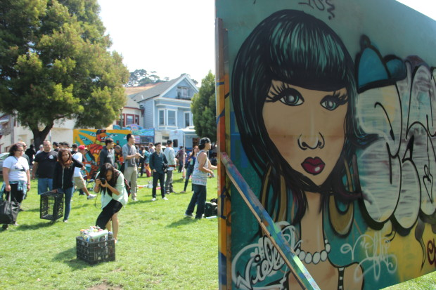 More than 100 people attended the 18th Annual Urban Youth Arts Festival on Saturday with live music, graffiti artists and 1,000 square feet of canvas. Photo by Leslie Nguyen-Okwu.