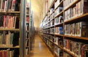 Rows of books in the reading room of the Mission Branch of the San Francisco Public Library. Photo by Joe Rivano Barros.
