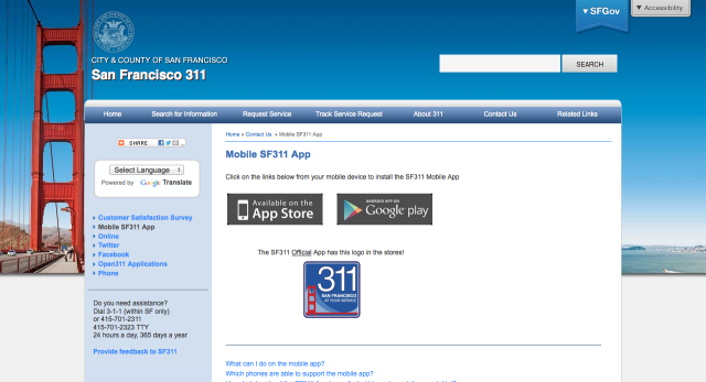 311 App: Potholes, Graffiti and Litter Beware