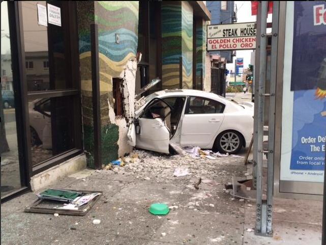 Crime Recap: Car Crashes into Bank of America
