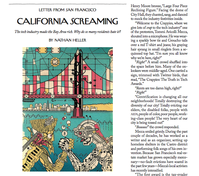 """""""California Screaming"""" page of New Yorker."""
