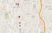 Weekend robberies and assaults, July 15. Map by Dan Hirsch.