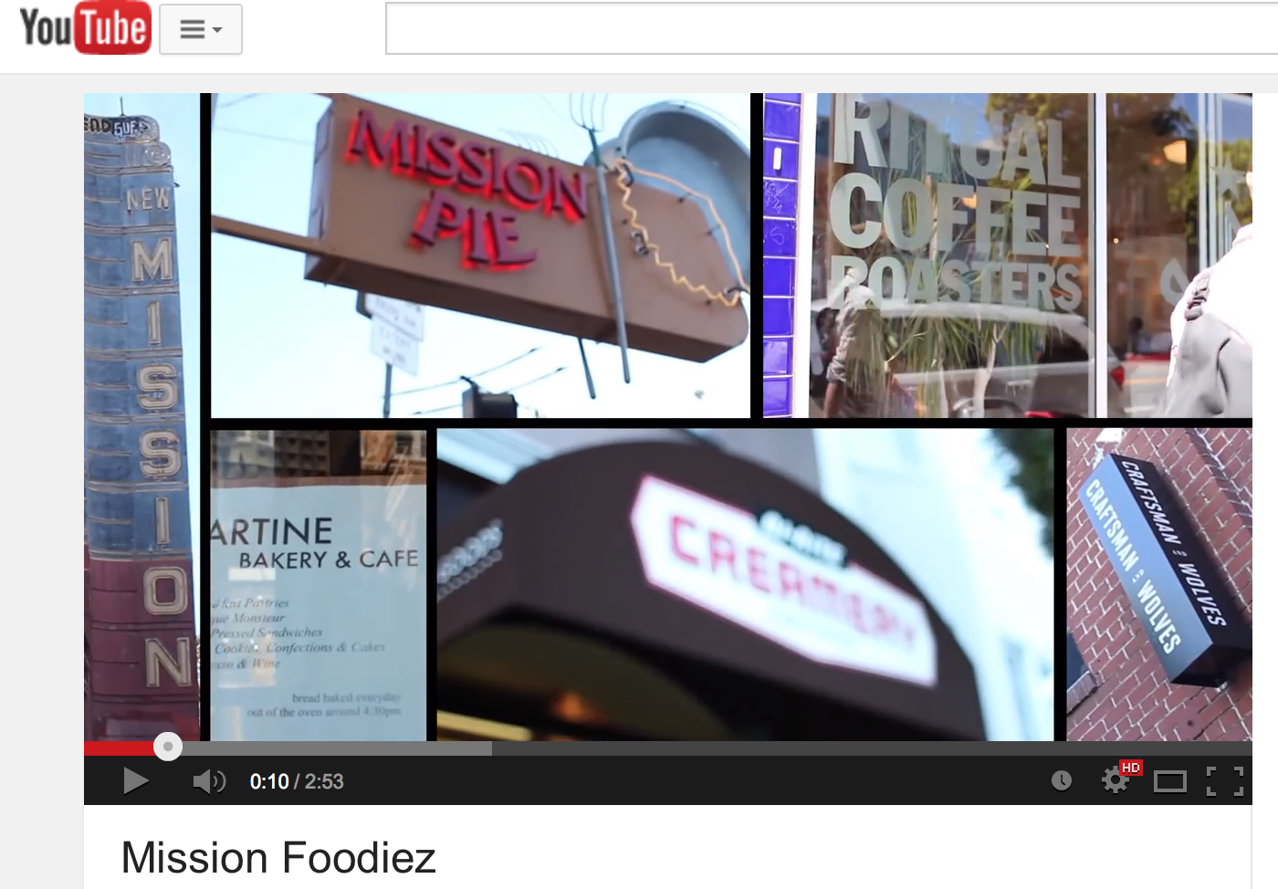 """Screenshot of """"Mission Foodiez"""" on YouTube."""
