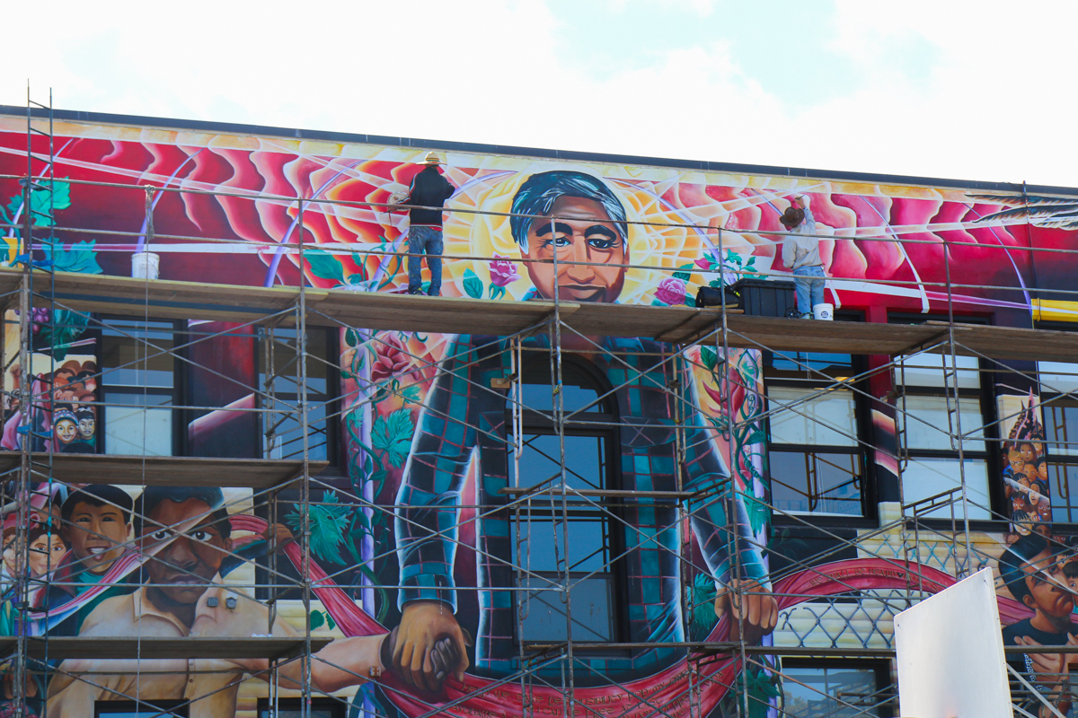 Cesar chavez mural gets face back missionlocal for Cesar chavez mural