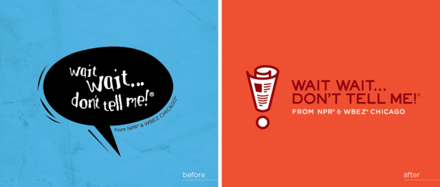 The old and new logos of NPR's popular radio quiz show. Photo courtesy of NPR.