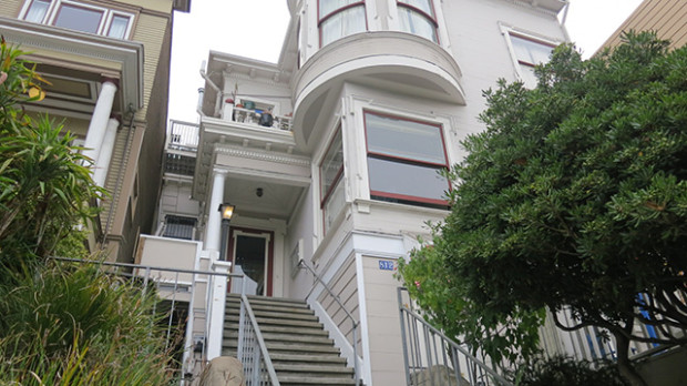 Jack Halprin's apartment building on Guerrero where he is evicting all of the tenants.