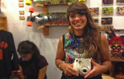 "LexMex with her ""favorite camera"" Fujifilm Instax MINI 7s"