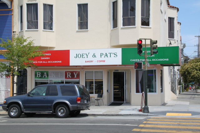 Joey and Pat's Bakery is open again, having closed for a few months after a Lexus crashed into their storefront. Photo by Joe Rivano Barros.
