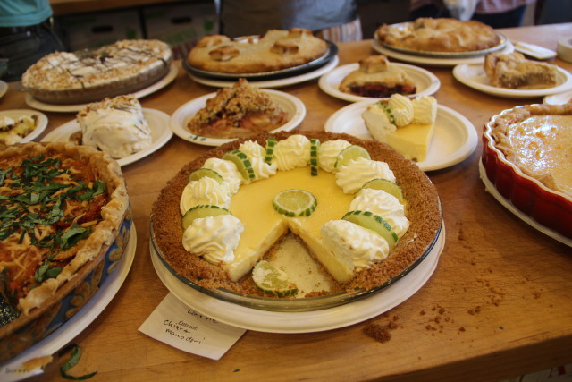 """The winner of the Best Classic Pie, a key lime pie by Chiara Manodowi. """"This is the one I would want to eat the most,"""" said Bill Niman. Photo by Joe Rivano Barros."""