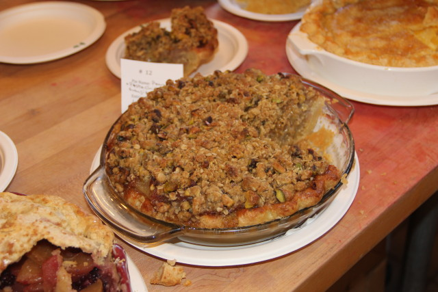 The pear pistachio frangipane pie by Long Le, winner of the People's Choice category. Photo by Joe Rivano Barros.
