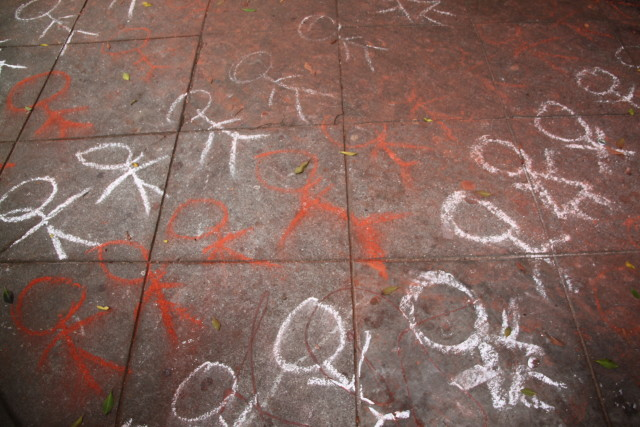Chalk Memorials for Palestinian Children
