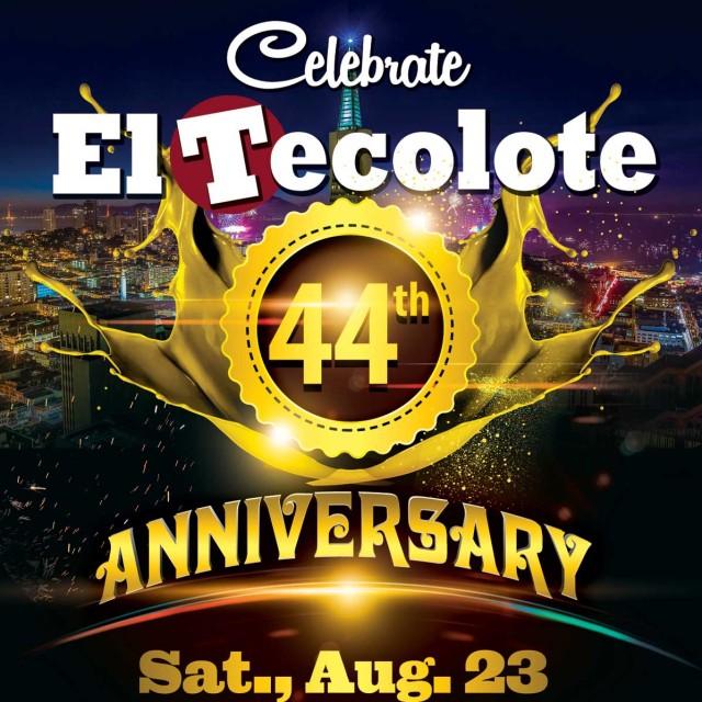 El Tecolote's celebration will be this Saturday at 8p.m at the Cesar's Latin Palace.