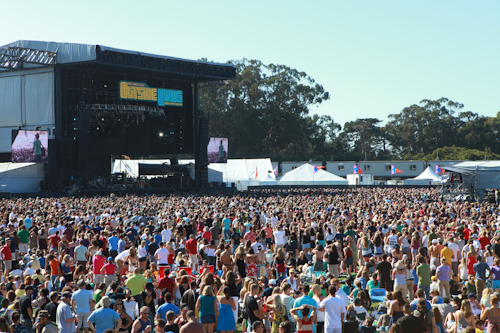 Tens of thousands crowd into Golden Gate Park at the 7th annual Outside Lands music festival. Photo courtesy of KQED.