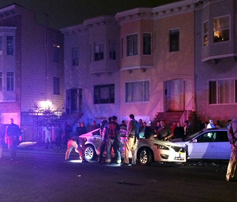 East Bay Chase Ends with 5-Car Crash on Capp St.
