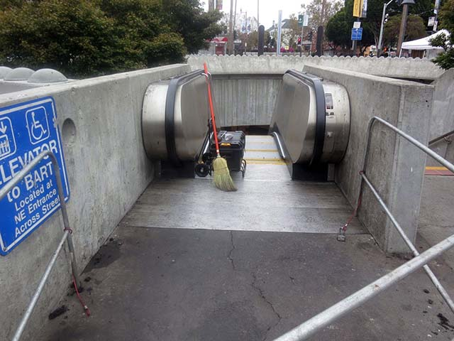 24th St. BART Escalator  – So Close