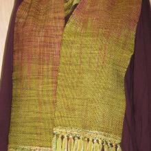 Hand-dyed Warp Wrap, Wendy Way Gilmore. Courtesy of the Artist.