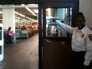 Ashanti Payne, a security guard at Food Co.