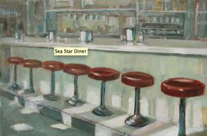 Sea Star Diner, Oil, Leila Noorani. Courtesy of the Artist.