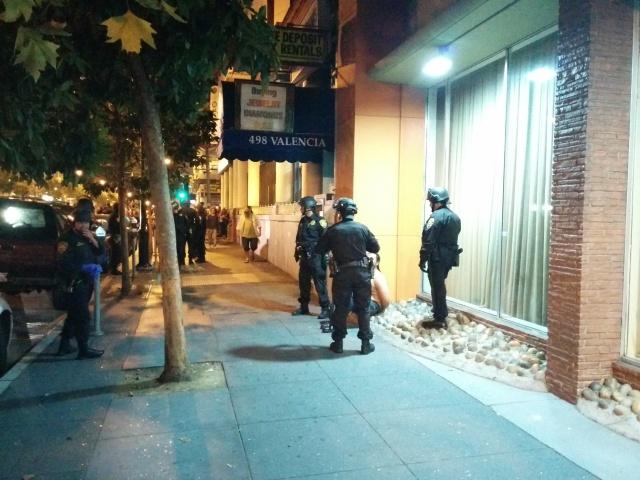 Arrest on 16th Street. Photo by Laura Wenus.