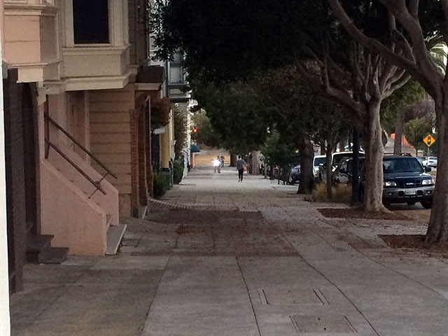 Looking down Dolores. Photo by Mark Rabine.