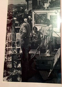 Ralph Maradiaga is on the left. Can you identify the other two artists?